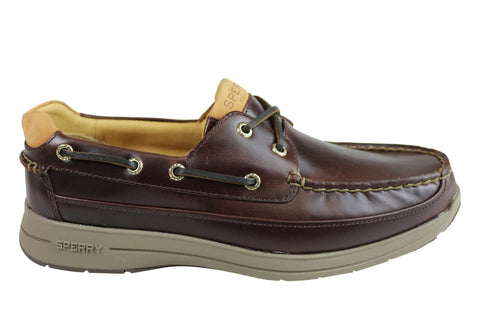 Sperry Mens Comfortable Leather Gold Cup Ultra 2 Eye Boat Shoes