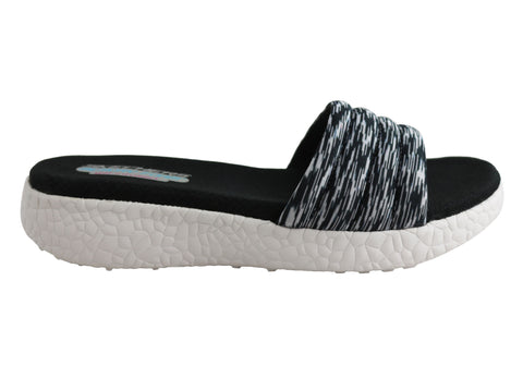Skechers Burst Elations Womens Memory Foam Comfort Slides