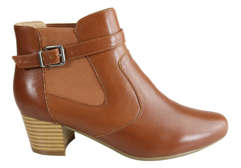 Scholl Orthaheel Highland Womens Comfy Leather Supportive Ankle Boots