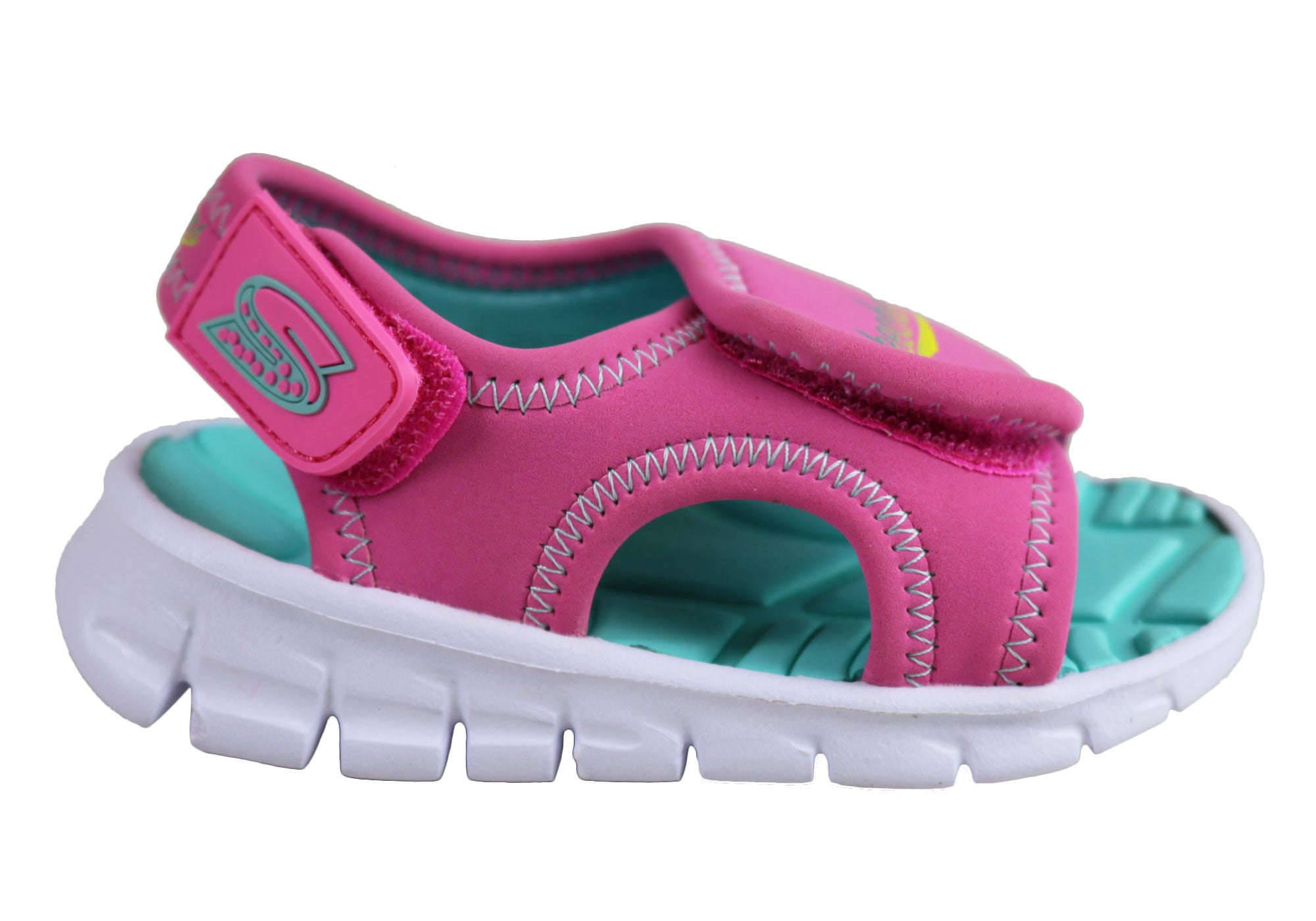 Details about Skechers Infant Toddler Kids Cushioned Synergize Adjustable Sandals KidsShoes