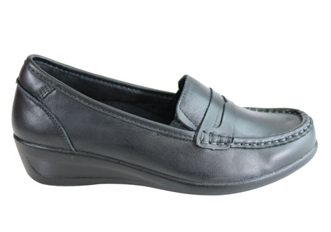 Scholl Orthaheel Memphis Womens Supportive Comfortable Loafers Shoes