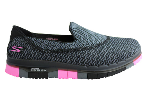 3A1O Skechers Go Walk Pizazz Black White Grey Pink Turquoise Budget Get Comfortable