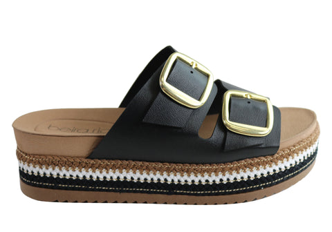 Donna Velenta By Beira Rio Thera Womens Flatform Slides Sandals