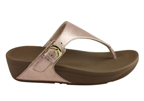 Fitflop Womens The Skinny Glimmersuede Cushioned Thongs Sandals