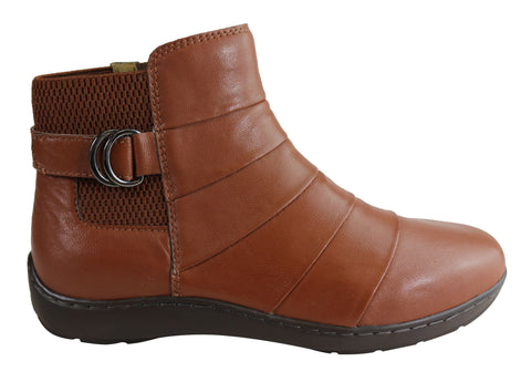 Scholl Orthaheel Wendell Womens Leather Comfort Supportive Ankle Boots