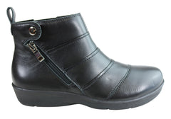 Scholl Orthaheel Boom Womens Leather Comfort Supportive Ankle Boots