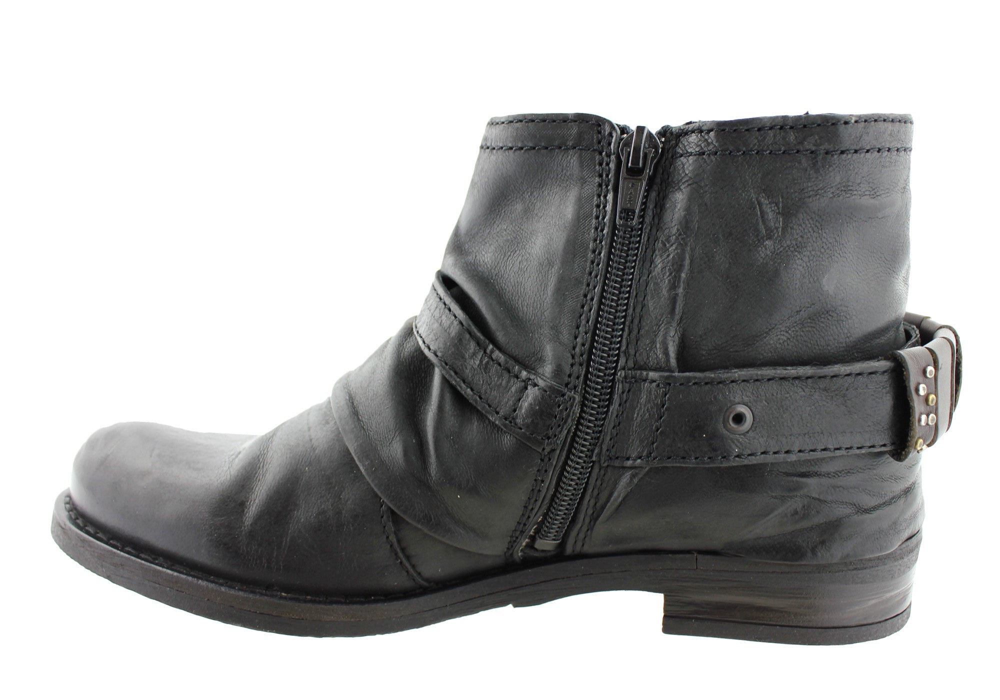 Misano Noris Womens Fashion Low Heel Ankle Boots