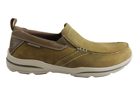 Skechers Harper Forde Relaxed Fit Mens Wide Fit Leather Casual Shoes