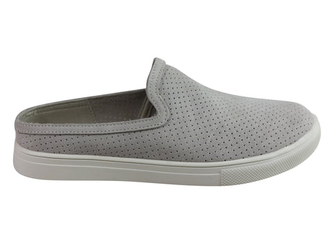 Skechers Womens Moda Slide Thru Memory Foam Slip On Flat Casual Shoes