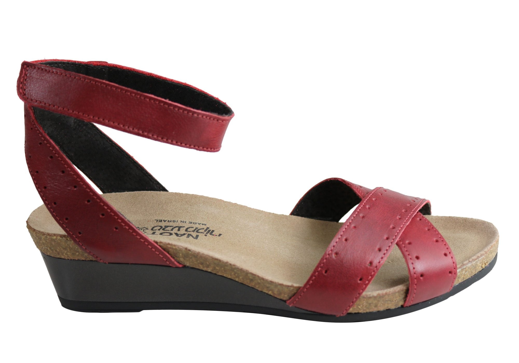Naot Wand Womens Leather Comfortable Wedge Sandals | Brand