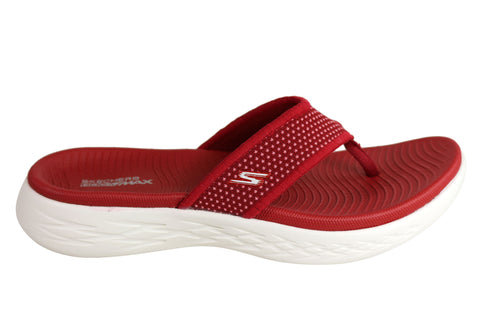 Skechers Womens On The Go 600 Comfortable Cushioned Lightweight Thongs