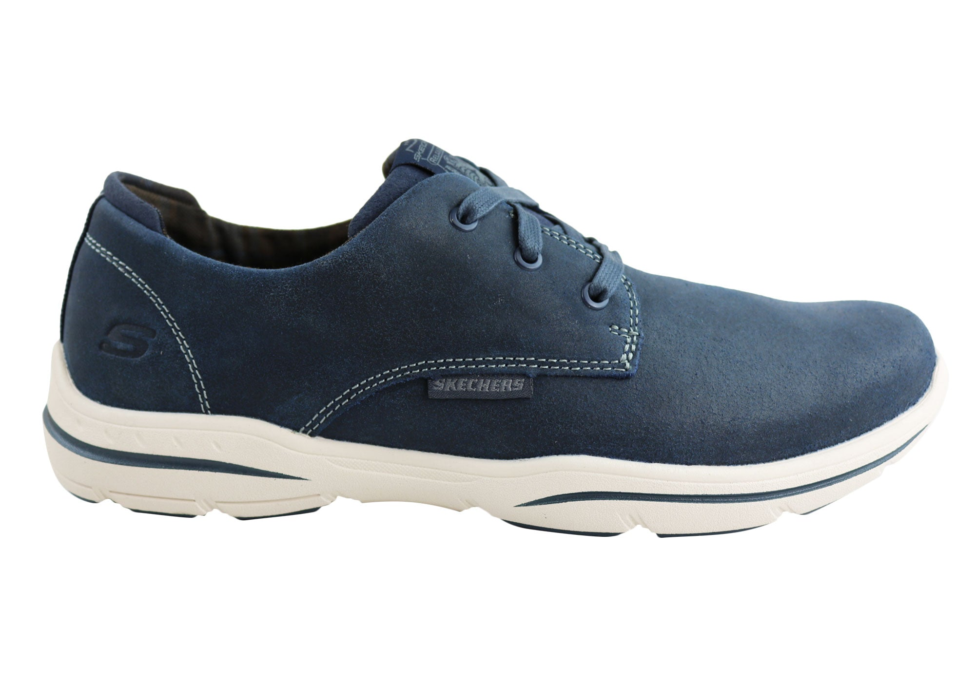 4baafcc3ae14 Home Skechers Mens Harper Epstein Relaxed Fit Mens Lace Up Casual Shoes.  Navy ...
