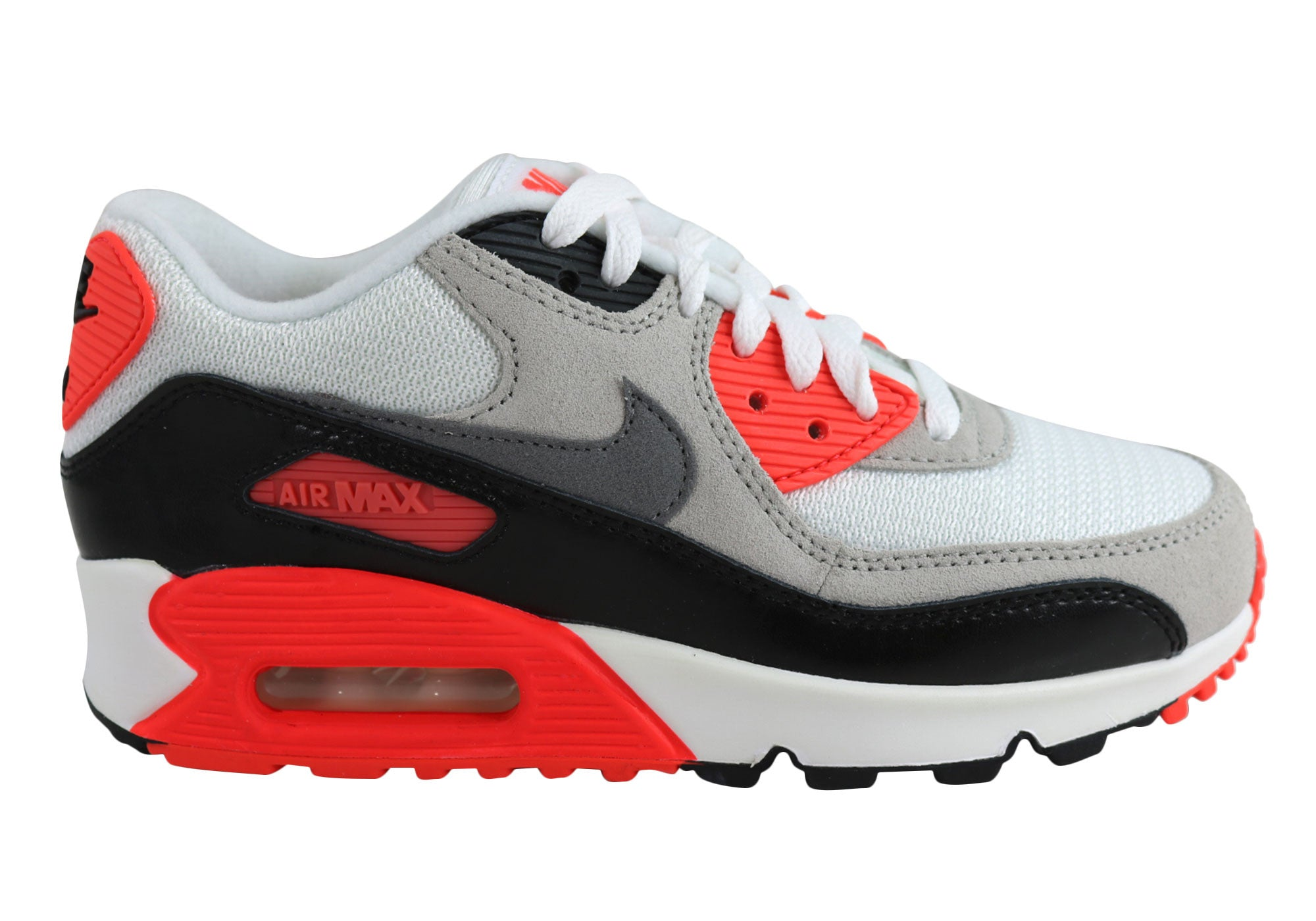 the latest fd241 0458b Nike Air Max 90 Premium Mesh (GS) Older Kids Sport Shoes | Brand ...