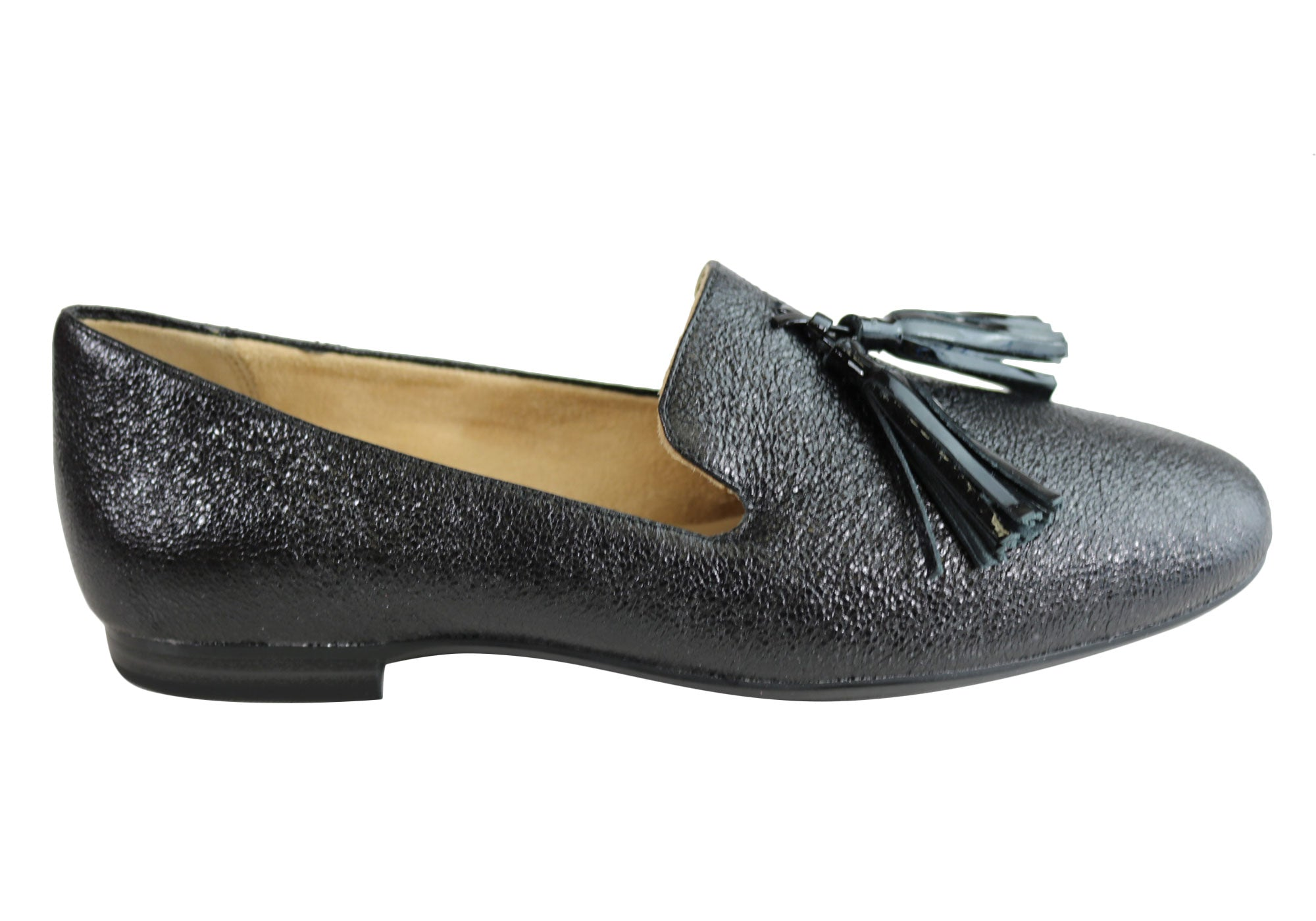 8743999ba8d Home Naturalizer Elly Womens Comfortable Fashion Flat Leather Loafer Shoes.  Black Sparkle ...