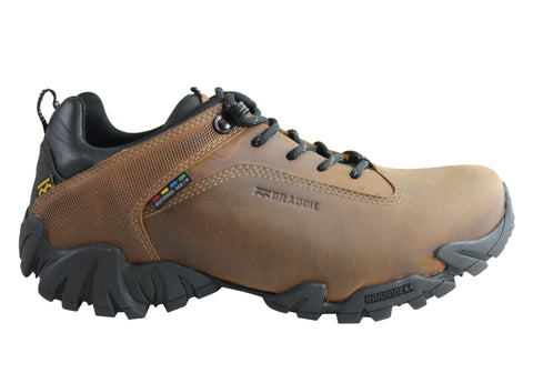 Bradok Krakatoa Mens Comfortable Leather Hiking Shoes Made In Brazil