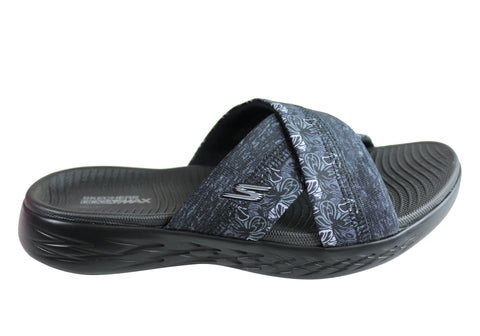 Skechers Womens On The Go 600 Monarch Comfortable Slide Sandals