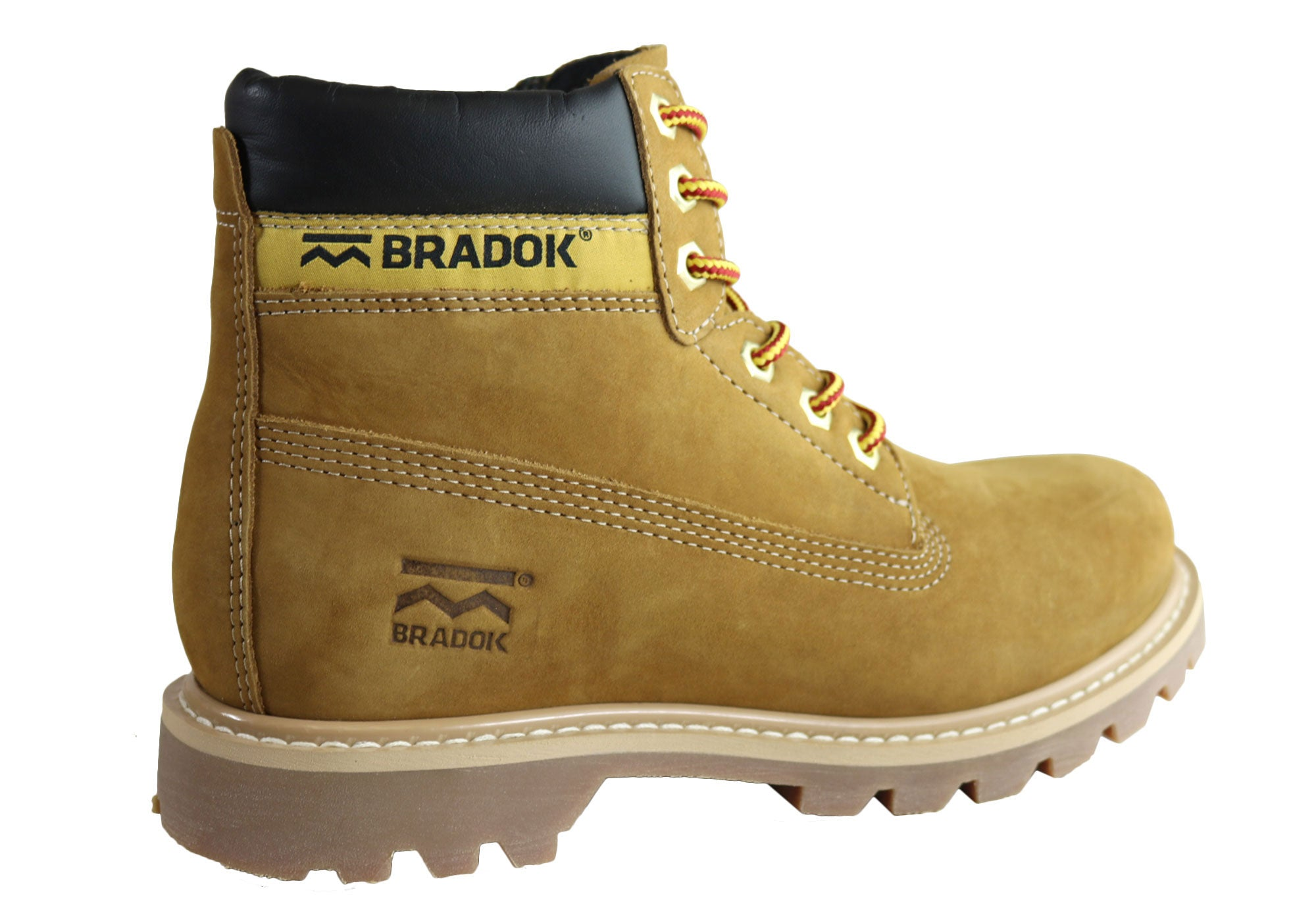 Bradok Eldorado Mens Comfortable Lace Up Leather Boots Made In Brazil