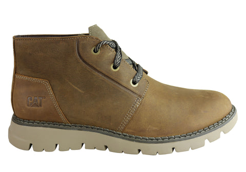Caterpillar Mens Lace Up Comfortable Cushioned Casual Sidcup Boot