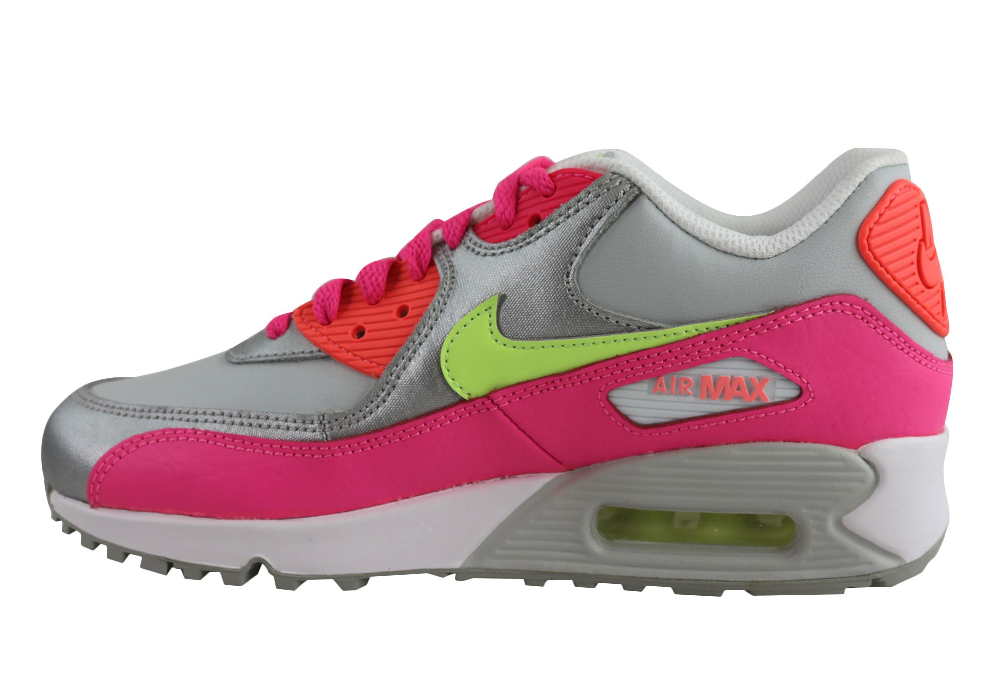 hot sale online e23db b77c8 Home Nike Air Max 90 Ltr (GS) Older Kids Girls Sport Shoes. White Pink   White Pink ...