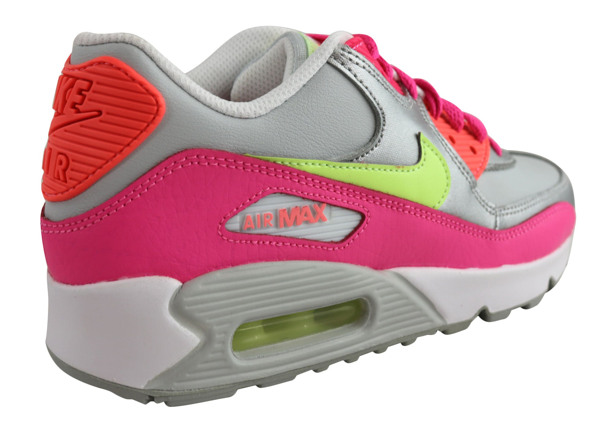 competitive price 18265 ad00e Home Nike Air Max 90 Ltr (GS) Older Kids Girls Sport Shoes. White Pink   White Pink  White Pink  White Pink ...