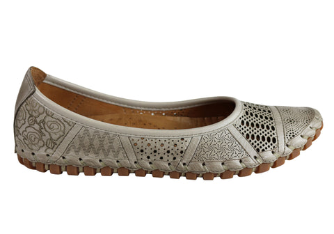 Cabello Comfort Miley Womens European Leather Comfortable Flats Shoes