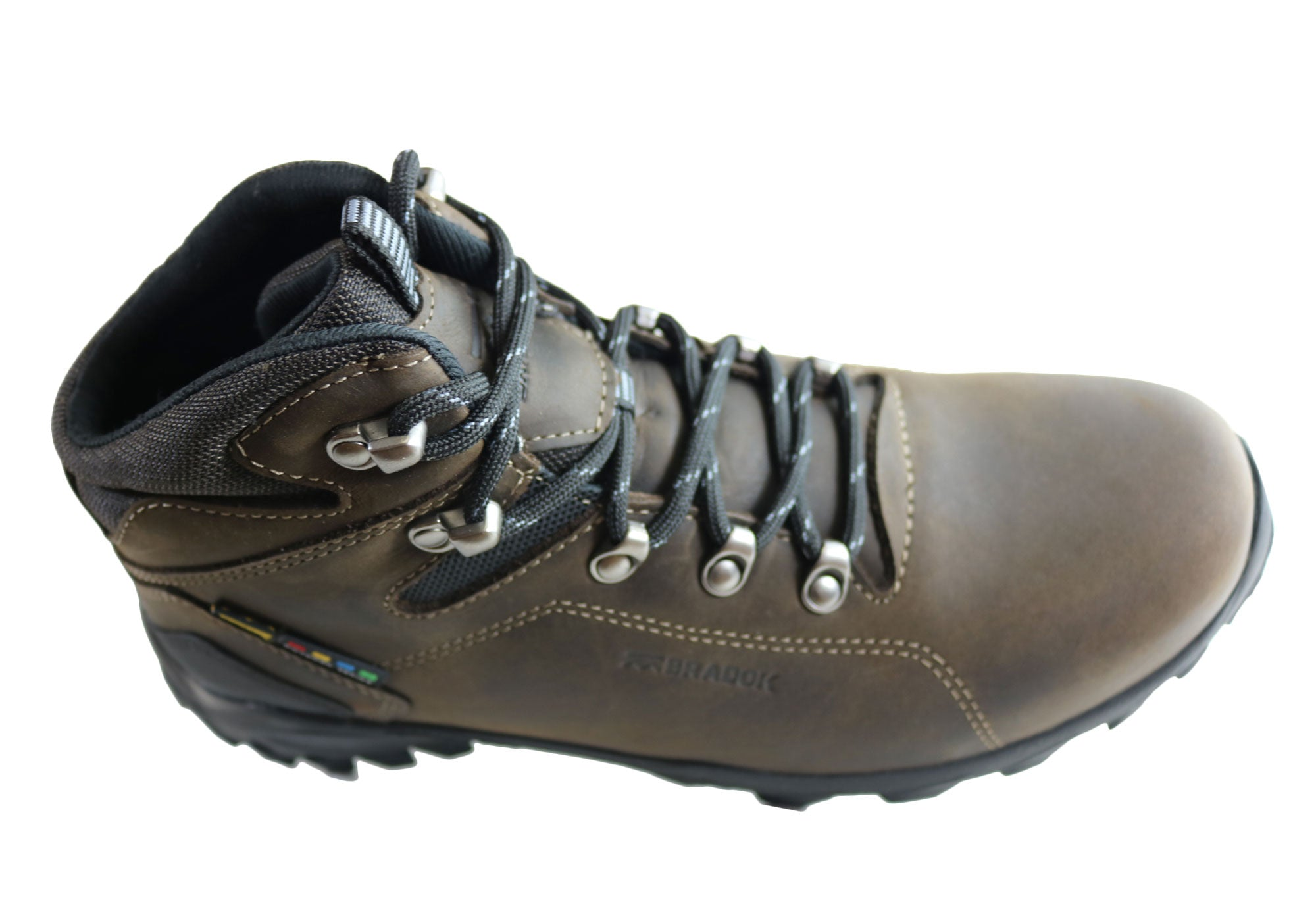 Bradok Raptor Mens Comfortable Leather Hiking Boots Made In Brazil
