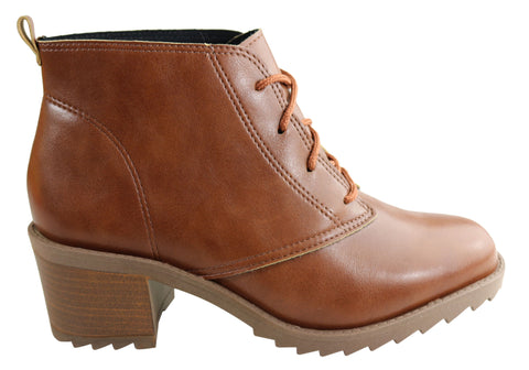 Moleca Deliah Womens Comfortable Lace Up Ankle Boots
