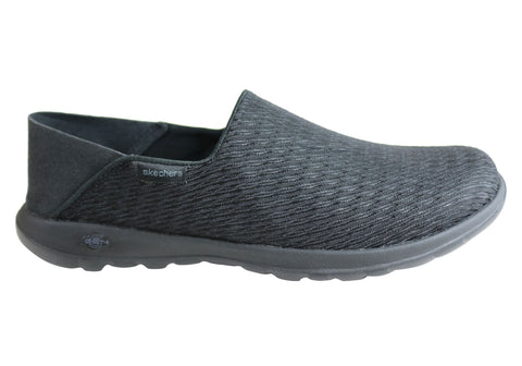 Skechers Womens Go Walk Lite Poise Comfortable Slip On Casual Shoes