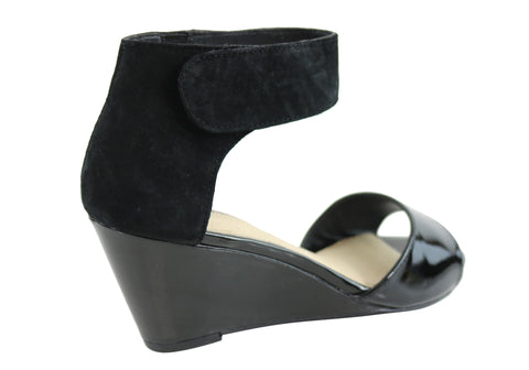 Hush Puppies Iris Womens Leather Ankle Strap Fashion Wedge