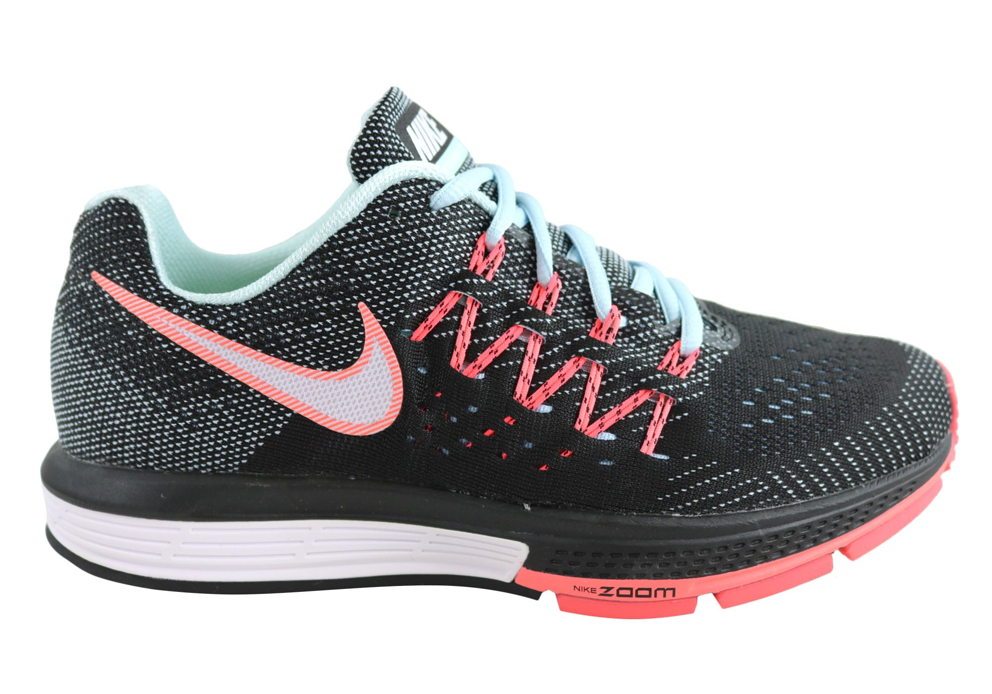 49845c74c232 Home Nike Womens Air Zoom Vomero 10 Comfortable Sport Shoes. Black Hot Lava  ...