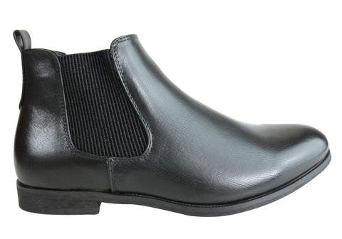 Isabella Brown Oakley Womens Comfortable Fashion Flat Chelsea Boots