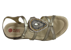 Planet Shoes Casia Womens Comfortable Cushioned Leather Sandals