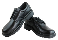 Human Adam Junior Kids Comfortable Leather Lace Up School Shoes