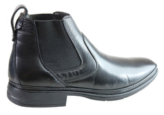 Savelli Richard Mens Leather Chelsea Dress Boots Made In Brazil
