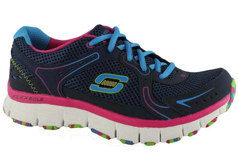 Skechers Flex Fit Fade Away Womens Sports Shoes