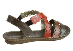 Andacco Cairns Womens Comfortable Flat Leather Sandals Made In Brazil