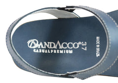 Andacco Teto Womens Comfortable Leather Flat Sandals Made In Brazil