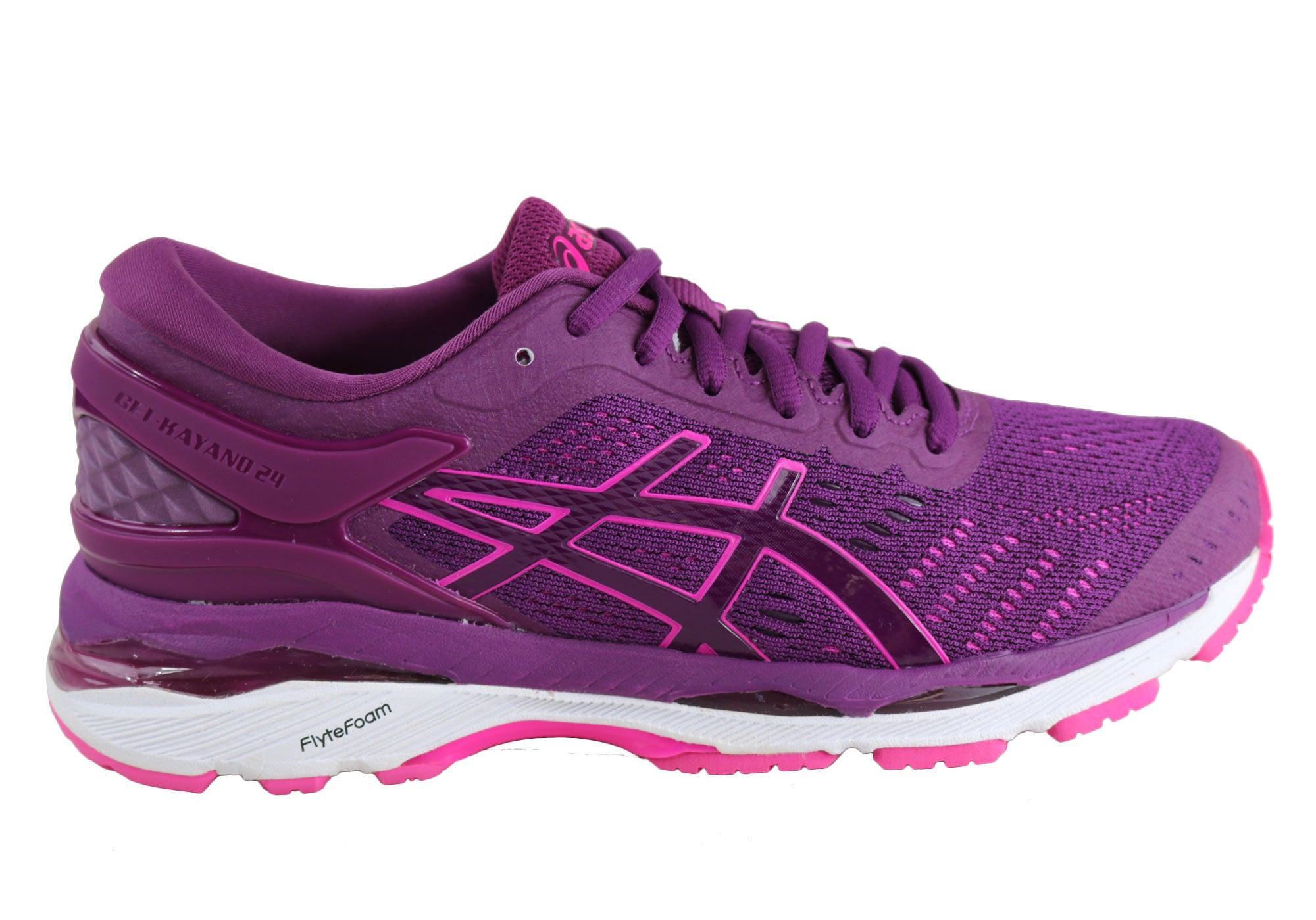 Asics Gel-Kayano 24 Womens Premium Cushioned Running Sport Shoes ... 447291e99b
