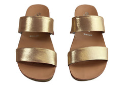 Andacco Mirage Womens Comfy Leather Flat Sandals Slides Made In Brazil