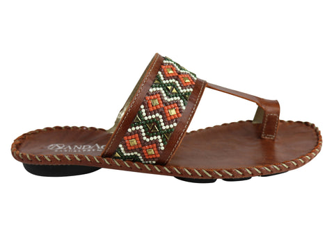 Andacco Zenia Womens Comfortable Leather Sandals Thongs Made In Brazil