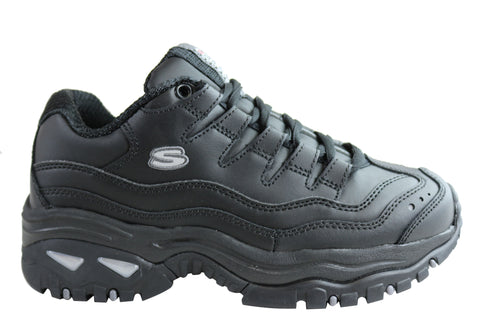 Skechers Womens Energy Lace Up Leather Comfort Casual Sport Sneakers