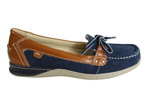 Planet Shoes Paddle Womens Comfortable Casual Boat Shoe Flats