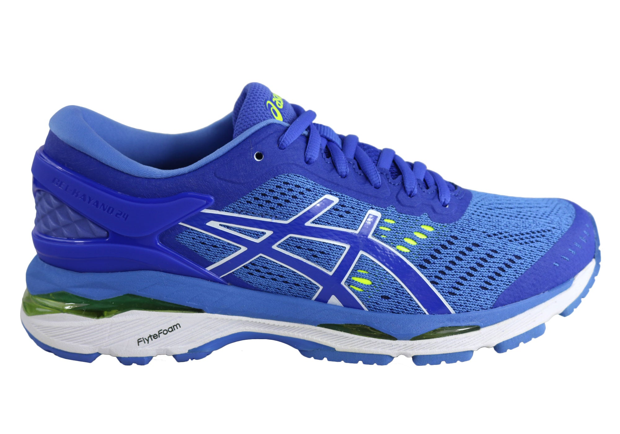 new product 72392 8d5f9 Asics Gel-Kayano 24 Womens Premium Cushioned Running Sport Shoes Wide D  Width