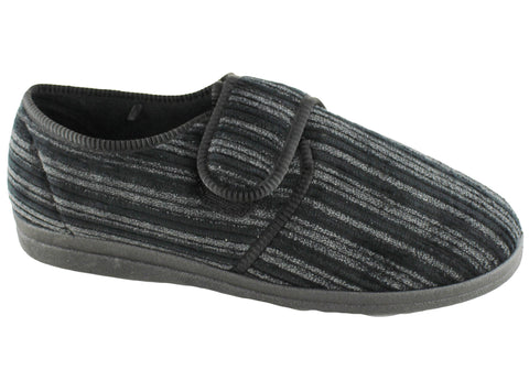 Grosby Thurston Mens Adjustable Strap Indoor Slippers