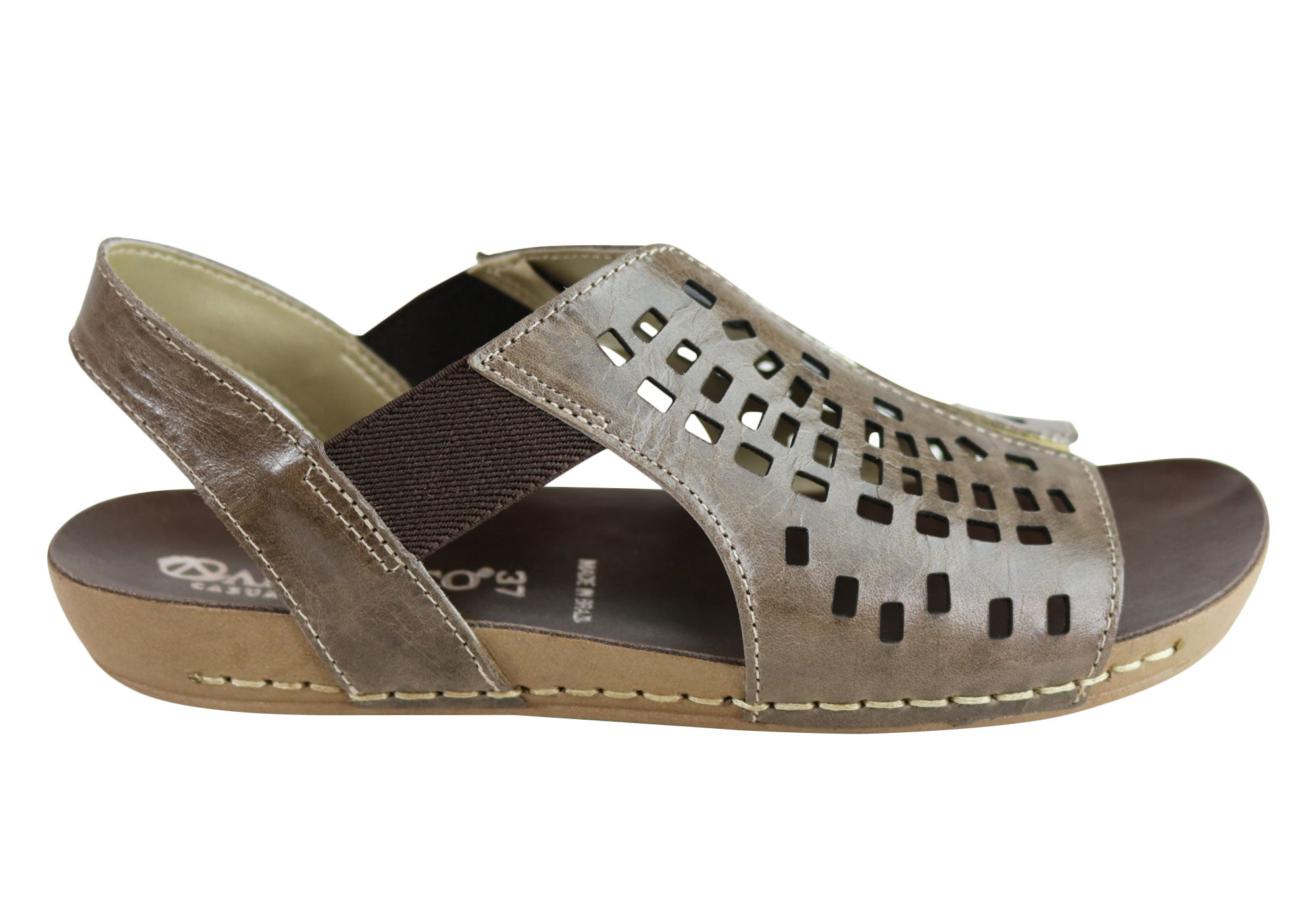 86ac1565e1eac Andacco Sunny Womens Comfortable Leather Flat Sandals Made In Brazil ...