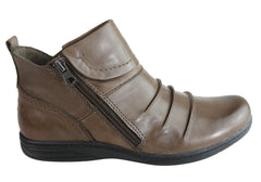 Planet Shoes Ripple Womens Comfort Leather Ankle Boots