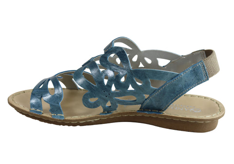 e5e04b04028 Andacco Desiree Womens Comfortable Flat Leather Sandals Made In Brazil