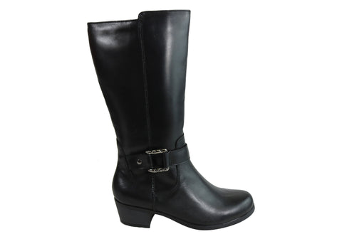 Planet Shoes Tromp Womens Comfortable Leather Low Heel Knee High Boots