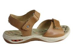 Pegada Marie Womens Comfortable Cushioned Adjustable Leather Sandals