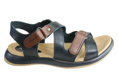 Pegada Karen Womens Comfortable Cushioned Adjustable Leather Sandals